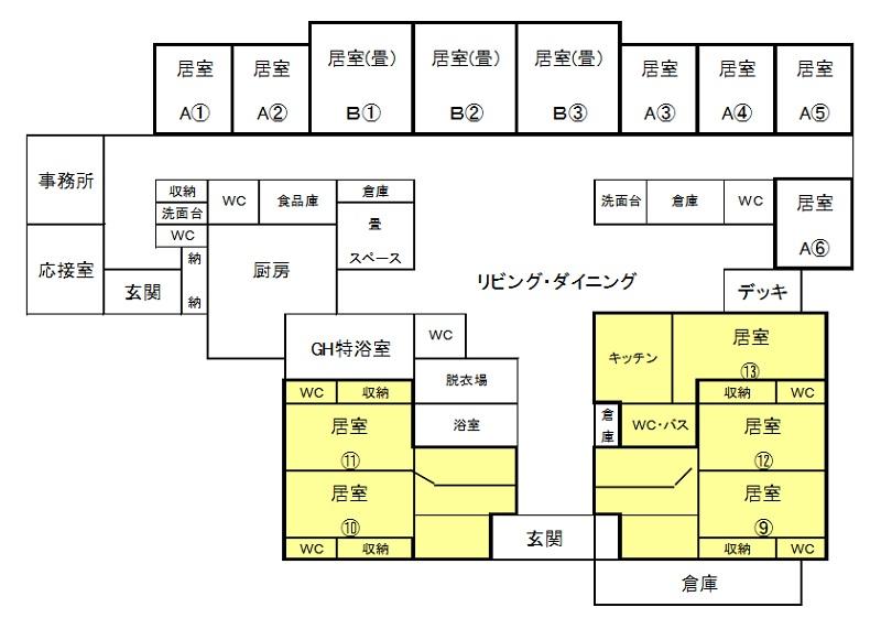 元気(新館)平面図